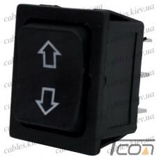 """Переключатель RS-223-4C (ON)-OFF-(ON) """"Tcom"""", 6-и контактный, 12V, 35А, чёрный"""