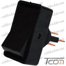 Переключатель ASW-11-102 ON-ON 3-х контактный, 12V, 20А, чёрный, Tcom