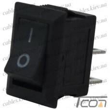 Переключатель mini SMRS-101-1 ON-OFF 2-х контактный, 1A, 220V, чёрный, Tcom