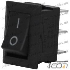 Переключатель mini SMRS-102-1 ON-ON 3-х контактный, 1А, 220V, чёрный, Tcom