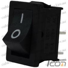 Переключатель MRS-101A ON-OFF 2-х контактный, 6A, 220V, чёрный Т2, Tcom