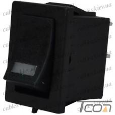 Переключатель с подсветкой MIRS-101-3+LED ON-OFF 4-х контактный, 3A, 220V, красный, Tcom