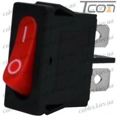 Переключатель MRS-101-5С3 ON-OFF 2-х контактный, 6A, 220V, красный, Tcom