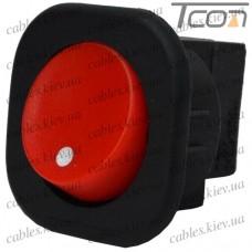 Переключатель круглый п/винт MRS-101-7С ON-OFF 2-х контактный, 6A, 220V, красный, Tcom