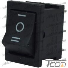 Переключатель MRS-203-3 ON-OFF-ON 6-и контактный, 3A, 220V, чёрный, Tcom