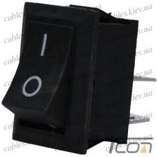 Переключатель KCD-1, ON-OFF 2-х контактный, 6A, 220V, чёрный, Tcom