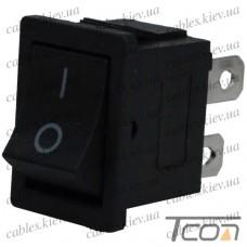 Переключатель KCD-1-104, ON-OFF 4-х контактный, 6A, 220V, чёрный, Tcom