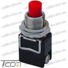 Кнопка PBS-13B без фиксации OFF-(ON) 2-х контактный, 4А, 250V, красная, Tcom
