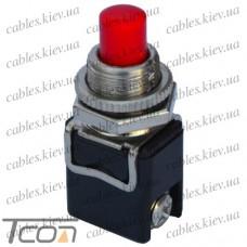 """Кнопка PBS-13C без фиксации ON-(OFF) """"Tcom"""", 2-х контактный, 4А, 250V, красная"""