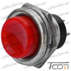 """Кнопка большая PBS-26B без фиксации, OFF-(ON) """"Tcom"""", 2-х контактная, 2А, 250V, красная"""