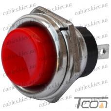 Кнопка большая PBS-26C без фиксации ON-(OFF) 2-х контактная, 2А, 250V, красная, Tcom