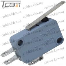 Микропереключатель с лапкой MSW-02 ON-(ON) 3-х контактный, 10A, 125/250VAC, Tcom