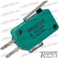 Микропереключатель с лапкой MSW-02 ON-(ON) 3-х контактный, 5A, 125/250VAC, Tcom