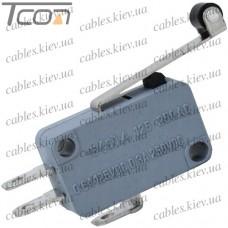 Микропереключатель с роликом MSW-03 ON-(ON) 3-х контактный, 10A, 125/250VAC, Tcom