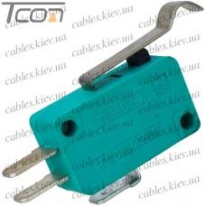 Микропереключатель с лапкой MSW-04 ON-(ON) 3-х контактный, 10A, 125/250VAC, Tcom