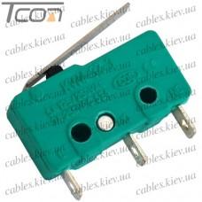Микропереключатель с лапкой MSW-12 ON-(ON) 3-х контактный, 5A, 125/250VAC, Tcom