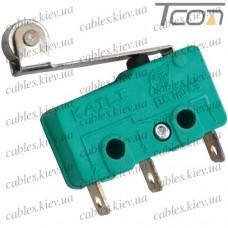 Микропереключатель с роликом MSW-13 ON-(ON) 3-х контактный, 5A, 125/250VAC, Tcom