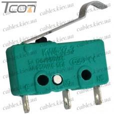 Микропереключатель с лапкой MSW-14 ON-(ON) 3-х контактный, 5A, 125/250VAC, Tcom