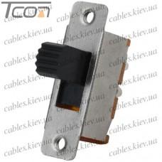 Переключатель движковый KBB40-2P2W ON-ON 6-и контактный, 0,5A, 250VAC, Tcom