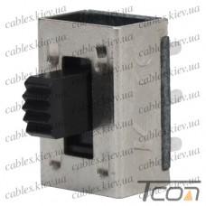 Переключатель движковый KBB45-2P2W ON-ON 6-и контактный, 0,5A, 250VAC, Tcom