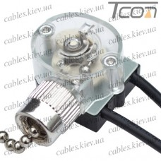 Выключатель с цепочкой для бра 20см, 3А, 220V, Tcom