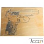 """Дощечка для выжигания """"Пистолет"""", Tcom"""