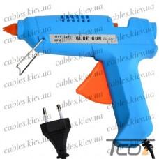 Пистолет клеящий ZD-7А под клей 11мм, 80W, в блистере, Zhongdi