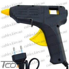 """Клеящий пистолет """"Tcom"""", под клей 11мм, 80W, чёрный"""
