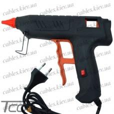 """Клеящий пистолет с кнопкой """"Tcom"""", под клей 11мм, 120W, чёрный"""
