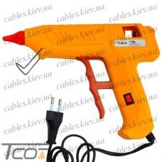 Клеящий пистолет с кнопкой под клей 11мм, 120W, жёлтый, Tcom