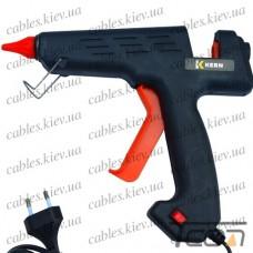 Клеящий пистолет с кнопкой под клей 11мм, 180W, чёрный, Tcom