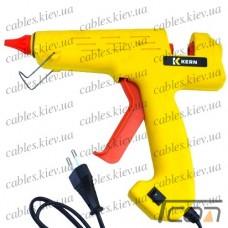 Клеящий пистолет с кнопкой под клей 11мм, 180W, жёлтый, Tcom