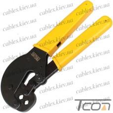 Клещи HS-106H для обжима разъёмов на коаксиальный кабель RG-59; 62; 6, Profix