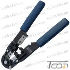 Клещи обжимные (HT-210C) для RJ-45 (8р8с) разъёмов (Hanlong), Tcom
