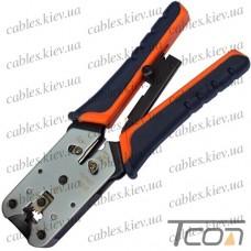 Инструмент обжимной НТ-2182R для 8р8с (RJ-45), металлический, Tcom