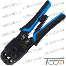 Инструмент обжимной HT-200R для 10p10c, 8p8c, 6p6c, 4p4c, Tcom