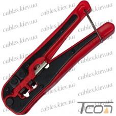 Инструмент обжимной WJ-335, для 4р4с, 6р4с, 8p8c, пластик, Tcom