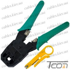 Инструмент обжимной для 4p4c, 6p4c, 8p8c разъёмов, Tcom