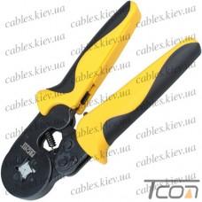 Клещи HT-864 для опрессовки трубчатых наконечников 0,25-6мм.кв. (квадратная обжимка), ProFix