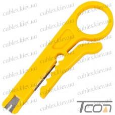 Стриппер для снятия изоляции и расшивки сетевого кабеля, Tcom