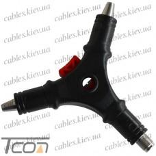 Инструмент (HLT-224S) для зачистки кабеля RG-59, 6 и инсталляции F-разъём, Tcom