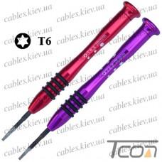 Отвертка прецизионная с алюминиевой ручкой T6 (разноцветные) - 1шт.