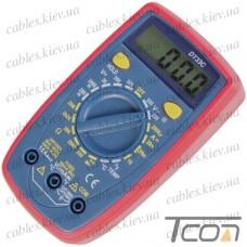 Цифровой мультиметр DT33C с подсветкой + термопара, Tcom-Digital