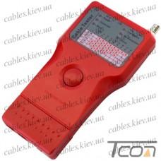 Кабельный тестер мультифункциональный 5 в 1 (RJ-11, RJ-45, BNC, USB, 1394), Tcom
