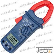 Клещи токоизмерительные DT201 с подсветкой, Tcom-Digital