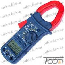 Клещи токоизмерительные DT201D с подсветкой, Tcom-Digital
