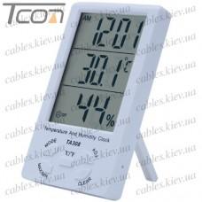 Цифровой термометр ТА308 (термометр + влажность + часы)