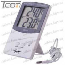 Цифровой термометр ТА338 (температура внутри + снаружи)
