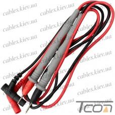 Шнуры мультиметра с серыми щупами, 20А, 4мм, силиконовый кабель (пара), HandsKit