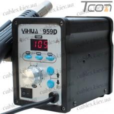 Термовоздушная паяльная станция YIHUA 959D, с дисплеем, 650W, 100-500°C